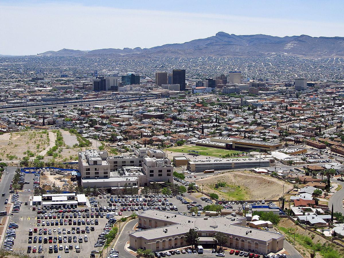 El Paso (États-Unis) et sa voisine Ciudad Juárez (Mexique). Photo: Jasperdo